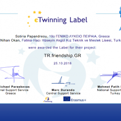 Etwinning label turkia